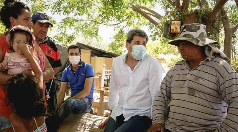 Pocito: las autoridades de la provincia recorrieron zonas afectadas por el sismo
