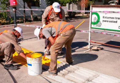 Capital continúa con las obras en seguridad vial